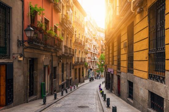 Architecture dans la vieille ville de Madrid