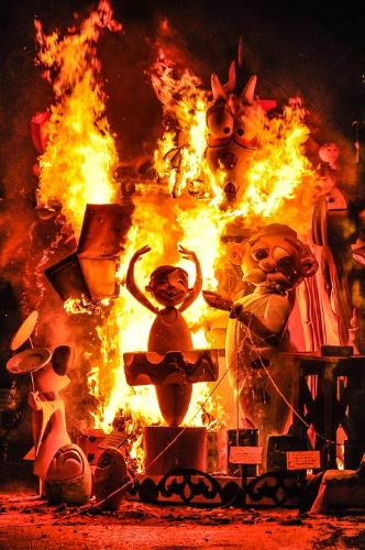 Crema à Valence durant las fallas