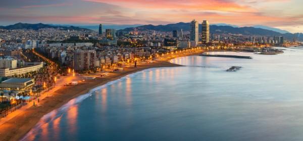 La plage Barceloneta de Barcelone